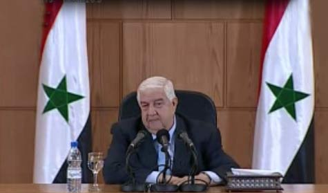 Moallem: We Dare Anyone to Present Evidence on Syria's Use of Chemical Weapons