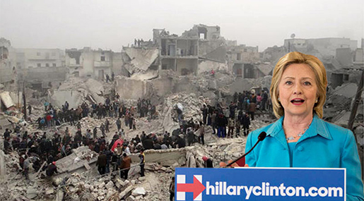 "Clinton: Destroy Syria for ""Israel"""