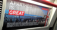 London Underground Trains: Boycott Apartheid 'Israel'