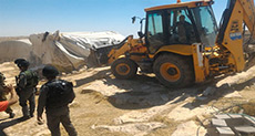 'Israeli' Forces Demolish Structures, Assault Locals in W Bank Village