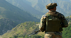 India Strikes along Kashmir Frontier
