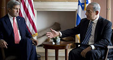 Netanyahu, Kerry Discuss Calming US over Settler Plan