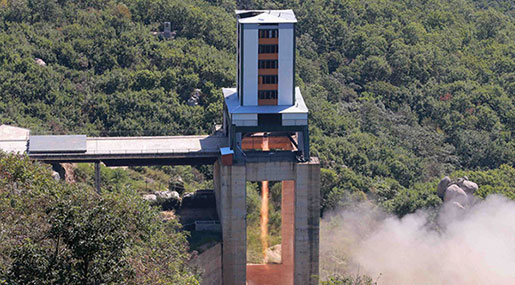 North Korea Tests Suspected ICBM Rocket Engine - Reports