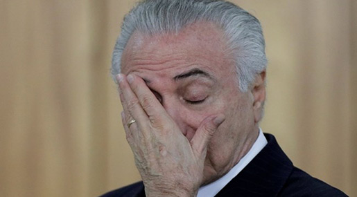 Brazil's Temer Charged with Corruption, Pressure Increases