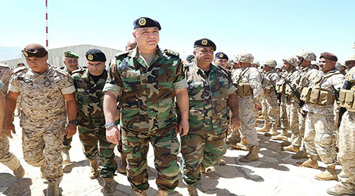 Lebanese Army Cmdr. Visits Arsal, Qaa: Army 'on the Offensive' against Terror