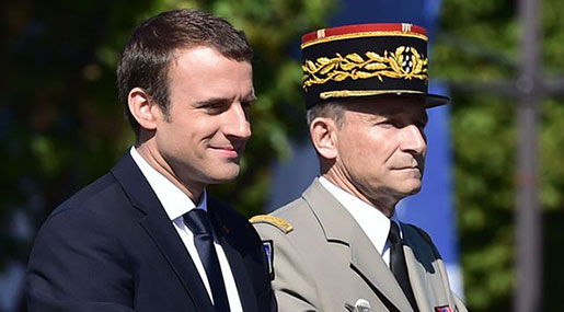 France's Head of Armed Forces Quits In Row with Macron