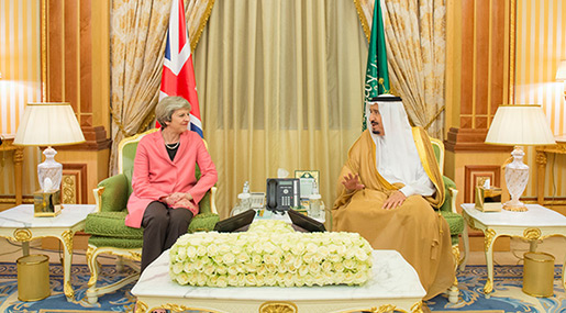 May Denies Suppressing Report on Saudi Terrorism Funding to Protect Arms Sale