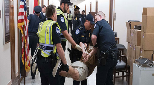 Anti-Trumpcare Protests: Police Make 155 Arrests