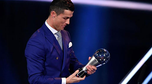 FIFA 2017: Ronaldo Retains World's Best Player Award