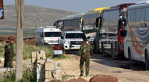 5 Humanitarian Cases Evacuated From Syria's Besieged Al-Foua'a and Kefraya