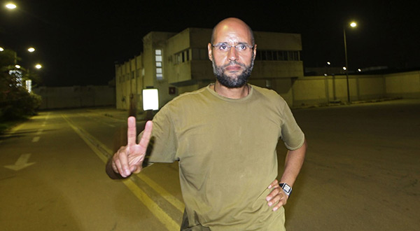 Saif al-Islam Gaddafi son of the late Libyan leader Col Muammar Gaddafi