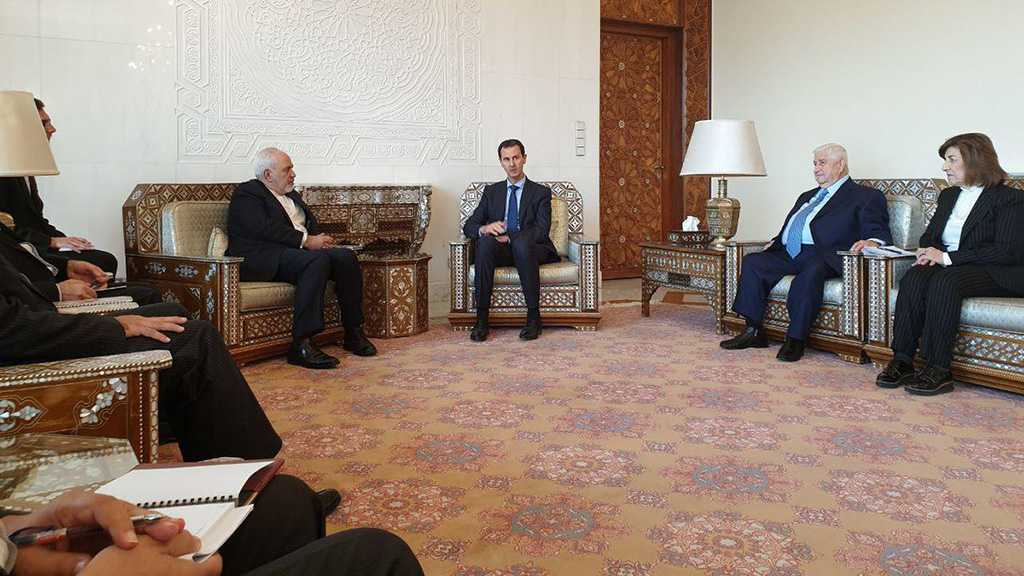 Zarif Meets Assad in Damascus