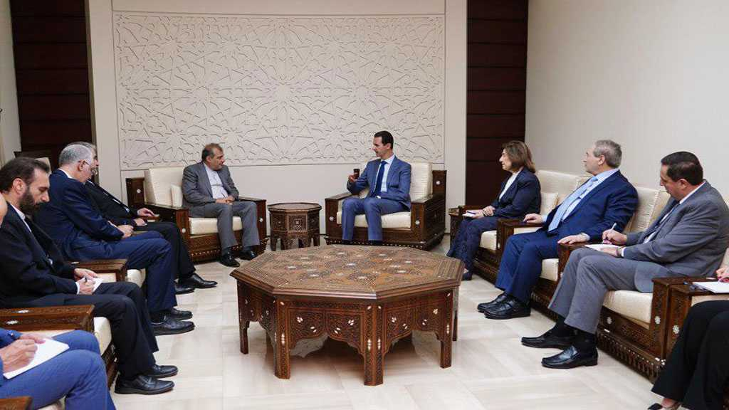 Assad Stresses Syria Will Support Iran against All Threats, Acts of Aggression