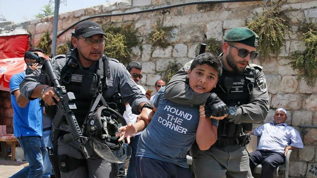 'Israel' Abuses Most of 745 Child Detainees Arrested Since Start Of 2019