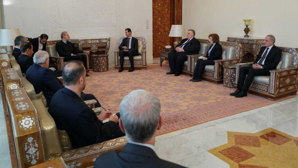 Larijani Reiterates Tehran's Support for Damascus