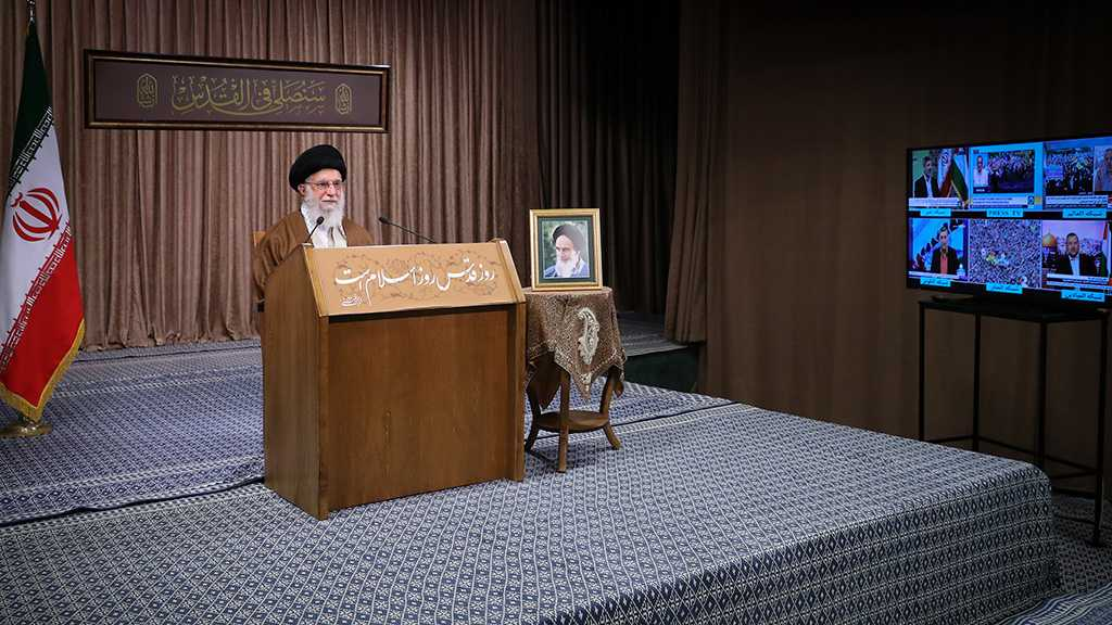 Imam Khamenei: There Is No Crime Equivalent to the Theft of Palestine, 'Israel' to Be Uprooted