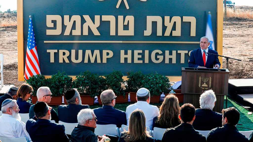 'Israel' Greenlights Illegal 'Trump Settlement' In Occupied Golan Heights