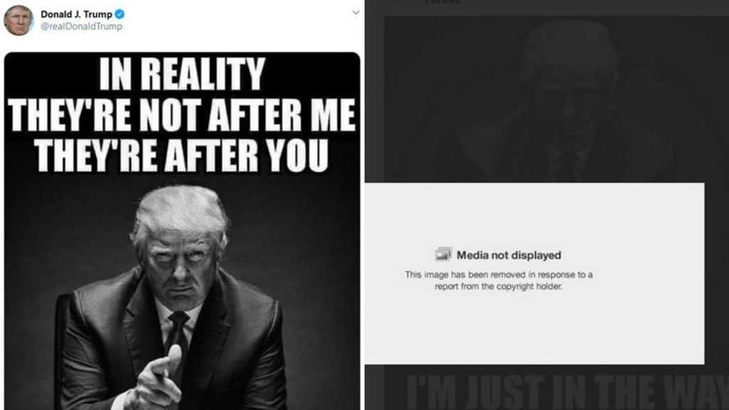 War Escalates: Twitter Removes Trump's Own Image after NYT Files Copyright Complaint
