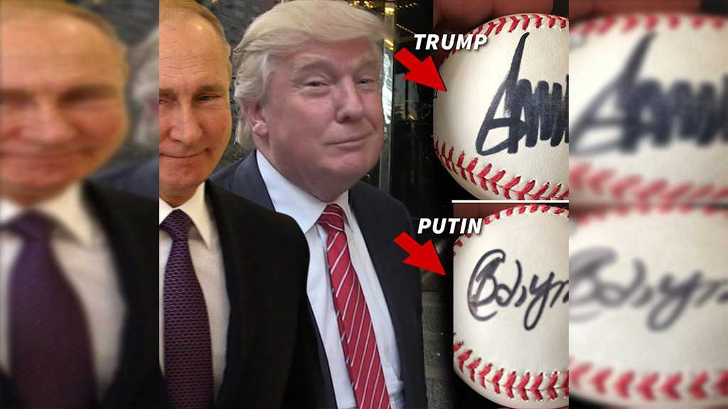 Baseball Allegedly Signed by Putin and Trump Up for Sale for $54k