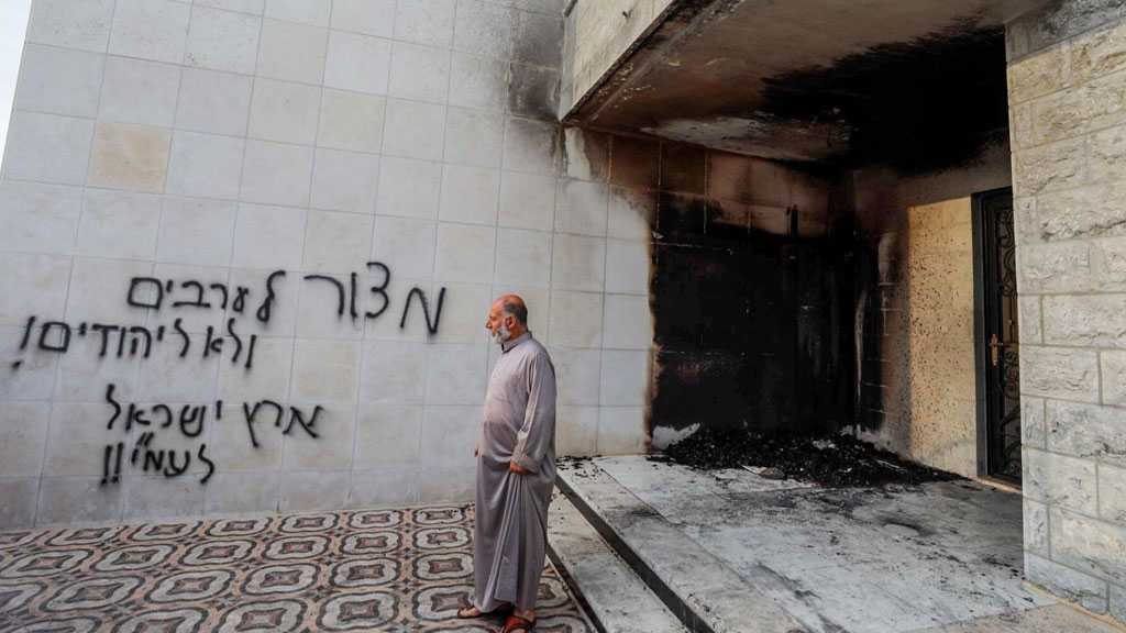 'Israeli' Settlers Set Palestinian Mosque on Fire