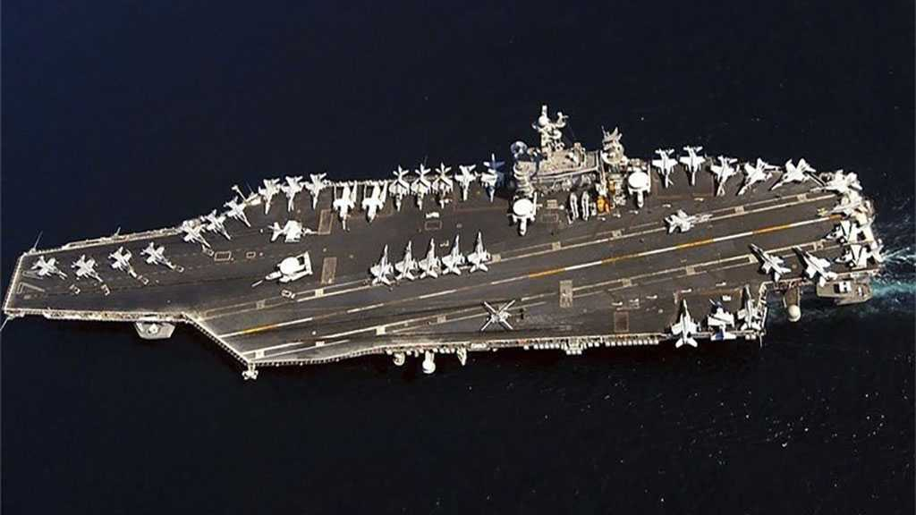 IRGC Naval Drone Detects US Carrier Strike Group near Hormuz Strait