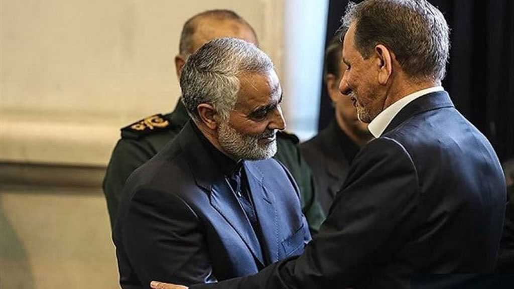 Iran's VP Lauds Martyr Soleimani's Push for Negotiations